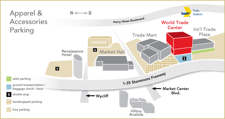 Apparel and Accessories Market Parking map