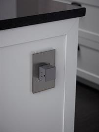 The adorne Pop-Out Outlet lets you hide an outlet when not in use. Simply push on the outlet and it disappears into the wall. Includes capacity for three plugs. Easy 1-for-1 installation lets you simply replace your existing outlet with adorne in just minutes.
