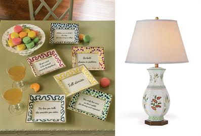 Enjoy the whimsy of Madcap Cottage. Our sayings plates are the perfect gift.
