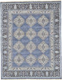 The designs of the Ustad Collection are a return to the classics, featuring time-honored designs hand knotted in updated palettes to coordinate with today's décor trends. The well-balanced mix of tradition and innovation in the pattern of each rug transcends the common to capture the beauty of a vanished world. Trending toward the tribal, the pure wool pile of each piece creates a harmonious blend of modern style and classic design. Warm colors and a dazzling sheen add to the allure of this collection.