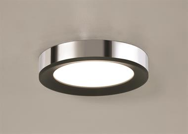 Alta LED Ceiling fixture with Chrome/Black finish