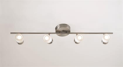 Gramercy LED Fixed Rail with Two-tone finish. Heads swivel and pivot