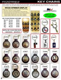 Our leather key chains come in various designs.  UPC labels are available for this item.