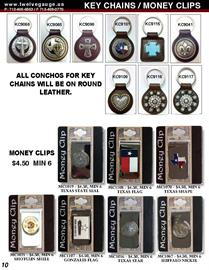 Leather Key Chains / Money Clips