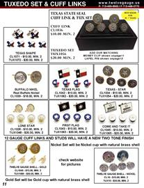 Our Original Designs have been imitated but never duplicated.  Check out our quality and you will see why we are still #1 in this market.  All Cuff Links and Tuxedo Sets come boxed.
