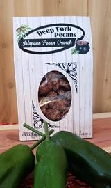 We've balanced the palate with sweet and spicy flavors by adding jalapenos to our praline flavored pecans