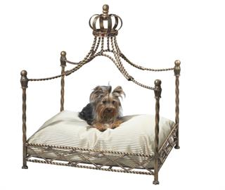 Iron pet beds all hand made.  All beds fit a standard size bed pillow for your convenience