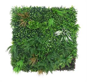 "Large Green Faux Variegated Plant Wall -130000 39""L x 39""W x 1""H"