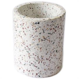 A wine cooler with a twist; terrazzo is just the touch needed to make this already beautiful piece stand out.