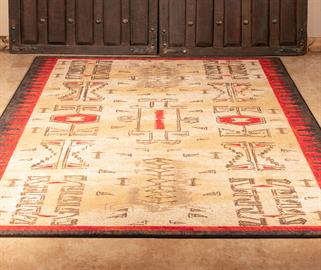The Barclay Rug is Available in 6 different sizes and made to order. Made in the U.S.A from premium EnduraStran Nylon.