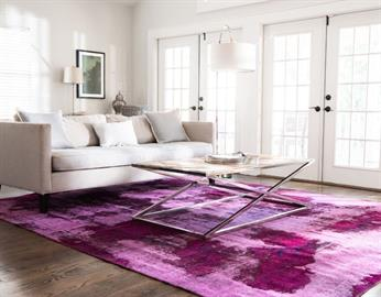 This distinctly unique collection features many contemporary designs rich in imagination and artistry. The abstract distressed forms on these rugs are inspiring and captivating. Imagine having a piece of modern art right in the middle of your room!