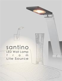 Santino LED wall lamp from Lite Source makes your bedtime reading more pleasant and eco-friendly with sleek design and soft LED illumination.