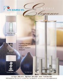 Tova table lamp from Lite Source features clear glass body with chrome finish metal frame and stem.
