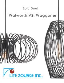 Our restoration collections bring you two impressive pendants: Walworth and Waggoner. Nicely welded open-cage iron work in dark bronze finish showcases the vintage Edison bulbs that come with them. They are great for dinning room and staircase illumination.