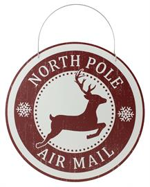 Let everyone know that you're a stop for Santa's mail with this North Pole Air Mail sign. It will bring a sense of wonder and joy to any girl or boy.