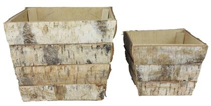 Bring the outside, in! With these lovely birch slab square pot covers, they are sure to bring rustic charm to your household.