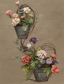 Beautiful Floral and Weather Metal Wall Planters