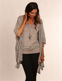 Light Weight Texture Wrap, Tank Top and Beautiful Heart Necklace