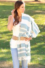 Fun and Flirty Knit Sarape, Belt and Tank Top all from Trezo