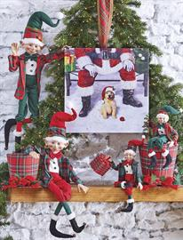 Dog bone and paw print motifs combined with tartan plaids and natural greenery, bring the holidays home for any dog lover.