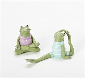 Fun yoga frogs for your garden!
