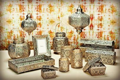 This beautiful, Moroccan inspired collection will add flare and style to any home.
