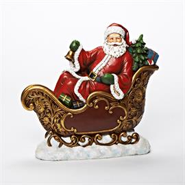 Traditionally beautiful, this Joseph's Studio® Santa in Sleigh looks great in the home or even as a porch decoration!