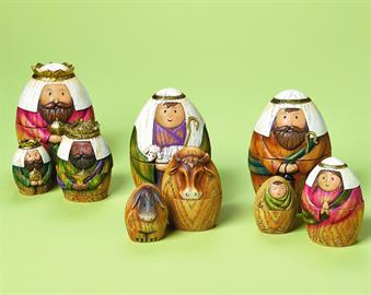 This cute Nesting Nativity Set is sure to be a hit at your home during the Holidays!