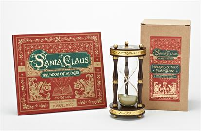 Santa Claus:  The Book of Secrets is a magic collection that will awaken the Christmas spirit in all of us!  The collection, just like the book will bring on the excitement of Christmas and all the magic and mysteries that come with the most wonderful time of the year.