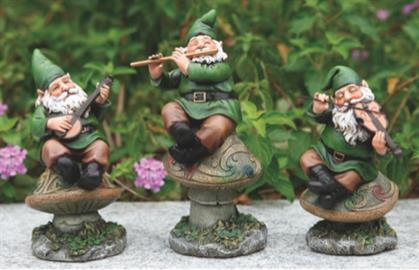 "These gnome statues come from Joseph's Studios® Celtic Garden Collection. Sizes are 5"", 6"", and 7""."