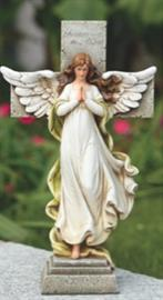 "This cross statue comes from Joseph's Studios® Memorial Garden Collection. The statue stands at 12""H."