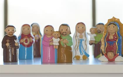 A collection of delightful Saint figurines.  This collection will inspire young and old to believe and understand the strength and lessons behind each story of the saints.