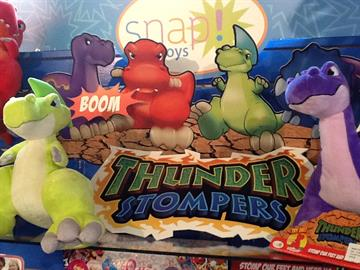 Fun dinosaurs which roar, growl, stomp, and crash with sound when stomped! Great price as well!