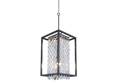 "Foyer Pendant 6 x 60W Medium Base L 16"" x W 28.5"" x H 34.5""-140.5"""