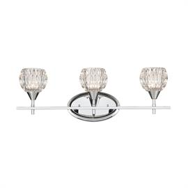 10821/3 – Kersey collection 3-light vanity with Polished Chrome finish and clear crystal.