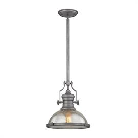 "66553-1_Finish: Weathered Zinc_Size: 13""w x 14""h_Bulb Type: Medium"