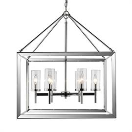 Modern lanterns feature a handsome beveled cage design. Clean geometry creates a contemporary style.