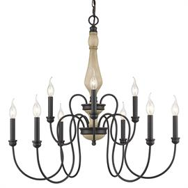 Inspired by the French countryside, Suzette is a romantic updated classic. Ready for a variety of interior applications, this lovely collection features refined traditional silhouettes. Flowing metalwork and slim candelabras create an appealing airy look that is casually elegant. The Natural Black finish is lightly textured for an authentically aged look.