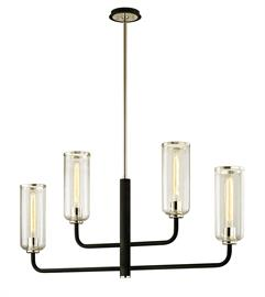 Four light linear pendant.