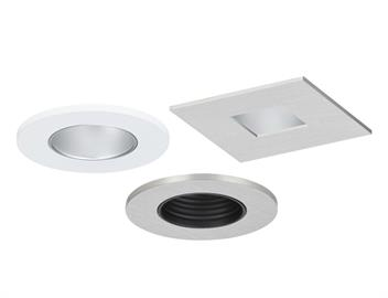 "1"" Eco-Downlight The high-performance COB LEDs include 14W, 2,700˚K, +/-50, CRI 90, 980 lm  14W, 3,000˚K, +/-50, CRI 90, 1074 lm 14W, 3,500˚K, +/-50, CRI 90, 1157 lm 14W, 4,000˚K, +/-50, CRI 80, 1250 lm  The New Construction (Non IC) and Remodel/Retrofit 1"", also includes 10, 30, 50, and 80˚ optics, extruded aluminum heat sink with black anodized finish, cold-rolled steel housing with black powder-coat finish, INC/ ELV/0-10v Universal dimming and they adjust vertically to accommodate ceiling thicknesses f"