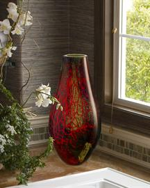 "Beautiful multi-colored vase. 8.75""W x 16.5""H"