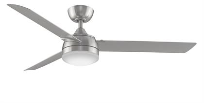 Offered in Dark Bronze with Dark Walnut blades and Brushed Nickel with Brushed Nickel blades. Features an AC motor with 3 forward and 3 reverse speeds. BTT9 fanSync handheld remote control and light kit included. For use in damp locations.