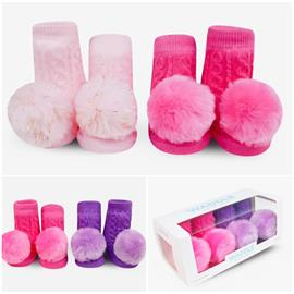 Extensive collection of baby rattle socks