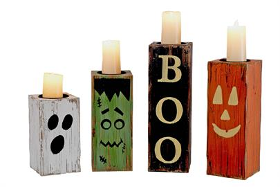 Check out our delightfully spooky set of candle holders to light up the night and your sales.