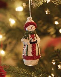 Tradition is showcased with our fun and cozy snowman (1 of 4 styles).