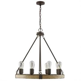 "This chandelier measures 26""W X 28""H (Product #430681SS)."