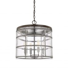 "This Colby 4 light pendant is finished in Urban Grey and measures 15.25""W X 16.50""H (Product #329441UG)."