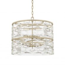 "This Serena 6-light pendant has a winter white finish and measures 17.50""W X 15.50""H (Product # 327861WW)."