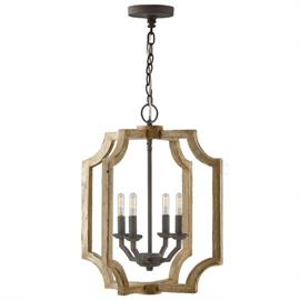 "This foyer fixture measures 18""W X 21.50""H (Product #530642SS)."