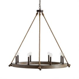 "This chandelier is part of the Tybee Collection and measures 38""W X 38""H (Product #429681NG)."
